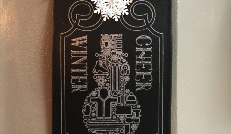 Winter Cheer Chalkboard